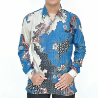 Baju batik lengan panjang semi sutra lapis furing BP09