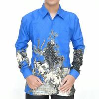 Baju batik lengan panjang semi sutra lapis furing BP08
