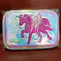 tempat pensil case hologram unicorn smiggle original