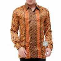 Baju batik lengan panjang semi sutra lapis furing BP12