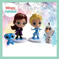 Cake Topper Miniature Frozen Elsa Anna Hiasan Cake Dekorasi Kue