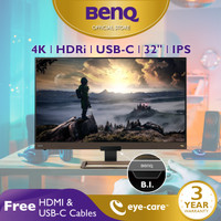 Monitor 4K BenQ EW3280U 32inch UHD IPS HDR Speaker LED Monitor Gaming