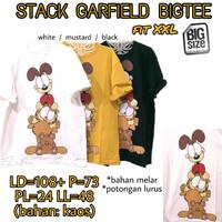 Stack Garfield Bigtee KAOS LUCU WANITA ADEM MELAR BIG SIZE XXL 2XL 2L