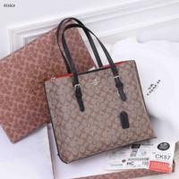 Tas Coach Signature Tote Bag Shoulder Bag 9333C Platinum