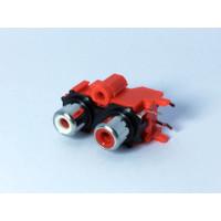 Soket RCA 2 Pin Tancap Merah