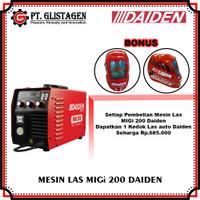 Mesin Las Listrik MIG CO2 Tanpa Gas Welding Gasless MIGi 200 Daiden