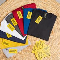 Kaos Polos Bahan Katun Bambu 100% Original(unisex) mode Slim Fit