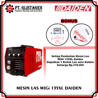 Mesin Las Listrik MIG CO2 Tanpa Gas Welding Gasless MIGi 135 XL Daiden