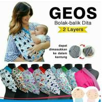 Gendongan Kaos Geos Baby Wrap Motif 2 in 1