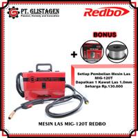 Mesin Las Listrik MIG CO2 Tanpa Gas Welding Gasless MIGi 120 T Redbo