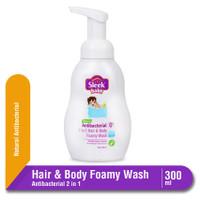 Sleek Baby Antibacterial 2 in 1 Hair & Body Foamy Wash Botol 300 ml