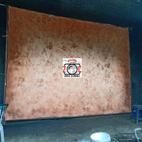 Background Abstrak Bercak Coklat 2.5x3m Layar Backdrop Kain Studio Lam