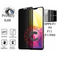 Tempered Glass Privacy Anti Spy Full Glue Oppo f7 f9 f11 f11pro pro