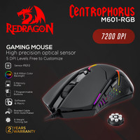 Redragon Gaming Mouse CENTROPHORUS - M601-3 - RGB