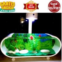 aquarium mini cupang tanpa pompa/aquarium ikan cupang/aquarium unik