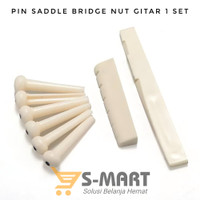 Pin Bridge Sadle Nut Gitar Akustik 1 SET