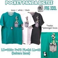 Pocket Panda Bigtee KAOS WANITA MELAR SANTAI ADEM JUMBO XXL 2XL 2L