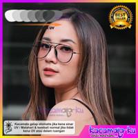Kacamata Wanita Minus Photocromic Antiradiasi UV