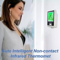 termometer badan infrared IR non kontak suara otomatis tempel dinding