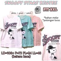 Snoopy Stars Bigtee KAOS WANITA MELAR SANTAI TERMURAH JUMBO XXL 2L 2XL