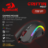 Redragon Gaming Mouse RGB GRIFFIN - M607
