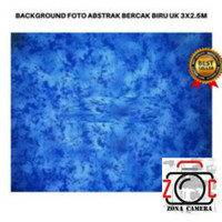 Background Abstrak Bercak Biru 2.5x3m Backdrop Kain Foto Studio Layar
