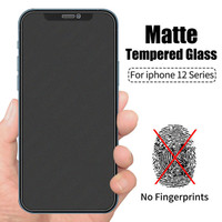IPHONE 12 / MINI / PRO MAX TEMPERED GLASS MATTE FROSTED FULL COVER