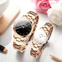 jam tangan BIDEN pria wanita Mode Tahan Air Kuarsa jam tangan couple