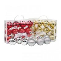 Hiasan Bola Natal Koper Merry Christmas 6cm isi 12-Aksesoris Natal