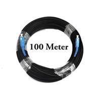 Kabel Fiber Optik Optic Drop Cable SM SC UPC M-M Patch Cord FTTH 100m