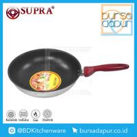 Supra Stainless Stir Wok/Wajan Impact Bottom Marble 28 cm Anti Lengket