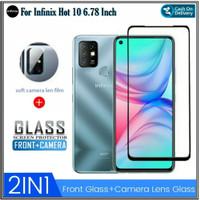 Tempered Glass Infinix Hot 10 Free Anti Gores Camera