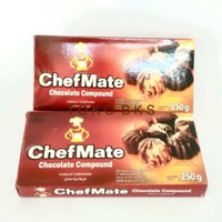 CHEFMATE DARK CHOCOLATE COKLAT COMPOUND 250GR