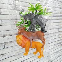 Set 3 Hewan Zoo The World of Animals OCT202 - Mainan Figure Miniatur