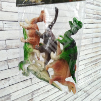 Set 6 Dinosaurus Dinosaur World T283 - Mainan Figure Miniatur Hewan