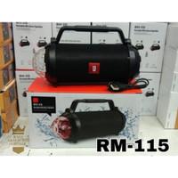Speaker Bluetooth RM-115 Lampu LED Disco + TWS Wireless