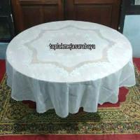 Taplak Meja Makan Bundar Bulat Putih Plastik Anti Air Diameter 178 cm
