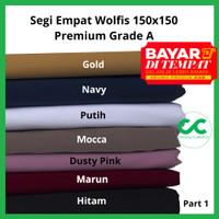 Segi Empat Syar'i Jumbo Wolfis 150 X 150 Cm Jilbab Wolpeace Grade A
