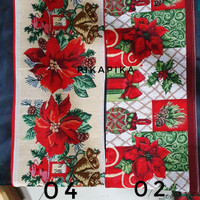 Table Runner Rug Christmas/ Taplak Meja Natal 0102
