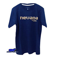 Kaos Nevada Pria Blue Navy Best Premium - Navy Blue, M