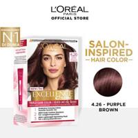 LOREAL Excellence Creme Pewarna Rambut 4.26 - Purple Brown