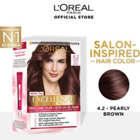 LOREAL Excellence Creme Pewarna Rambut 4.2 - Pearly Brown