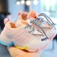 promo sepatu led lampu anak perempuan cewek cowok bayi laki import 18