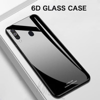 Case Glass Oppo F7 Soft Hard Back Cover Tempered Mirror