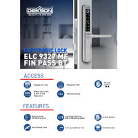 ELECTRONIC LOCK DEKKSON ELC 9327 MF FIN PASS BT Digital Lock Aluminium