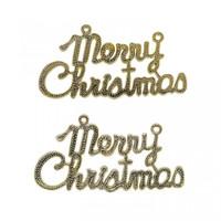 Gantungan Tulisan Merry Christmas 20cm isi 2-Gantungan Natal-Hiasan