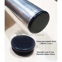 Tutup Pipa Bulat 2 inch / 51 mm Plastik Tebal / Alas kaki sofa