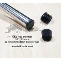 Tutup Pipa Bulat 7/8 inch / 22 mm Plastik Tebal / Alas kaki sofa