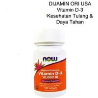 now food vitamin D3 10.000IU 120gel vitamin tulang & daya tahan tubuh