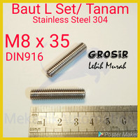 Baut L Tanam M8 x 35 SUS304